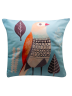 IMONO CUSHION T1267 BIRD BLUE (INCLUDE PILLOW)