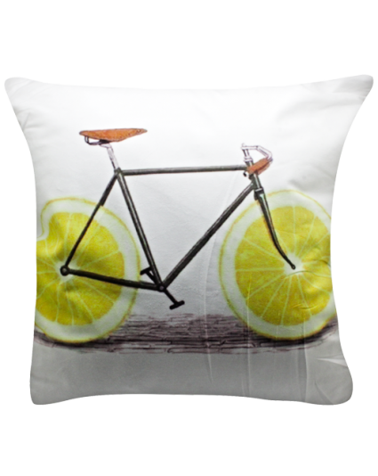 IMONO CUSHION BICYCLE WHITE (INCLUDE PILLOW)