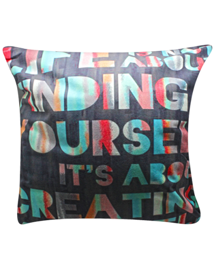 IMONO CUSHION WORDING DARK GREY (INCLUDE PILLOW)