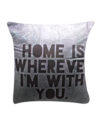 IMONO CUSHION WORDING GREY (INCLUDE PILLOW)