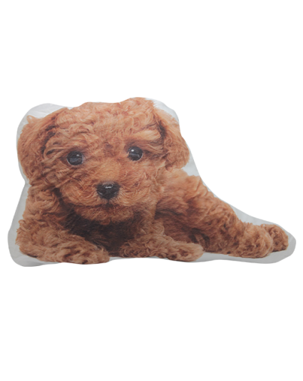 IMONO CUSHION BROWN POODLE DOG (INCLUDE PILLOW)