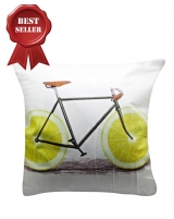 IMONO CUSHION BICYCLE WHITE (INCLUDE PILLOW)