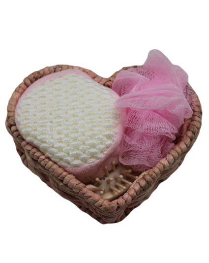 IMONO BATH SET WEAVING BOX PINK