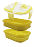 IMONO SILICONE LUNCH BOX - YELLOW