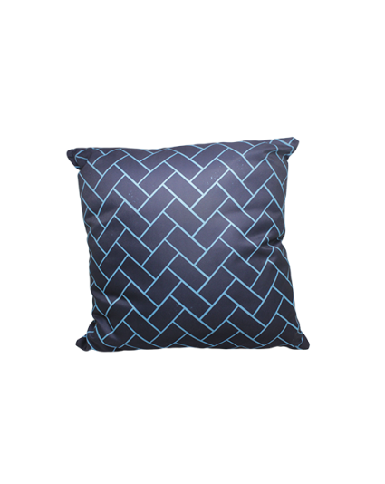 IMONO WATERPROOF CUSHION - WHITE BLUE