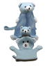 IMONO BATH SET ANIMAL BEAR WHITE